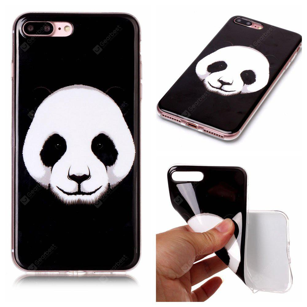 Panda Ultra Thin Slim Soft TPU caso de silicone para iPhone 7 Plus / 8 Plus