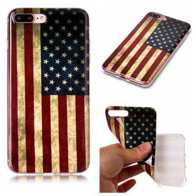 National Flag Ultra Thin Slim Soft TPU Silicone Case for iPhone 7 Plus/8 Plus