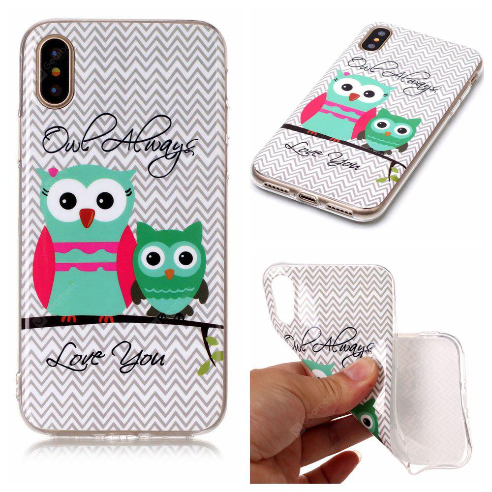 Owl Ultra Thin Slim Soft TPU Silicone Case para iPhone X