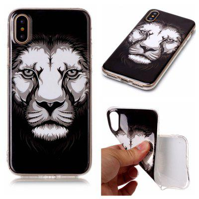 Lion Ultra Thin Slim Soft TPU Silicone Case for iPhone X