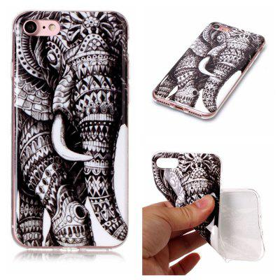 Elephant Ultra Thin Slim Soft TPU Silicone Case for iPhone 7 / 8