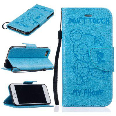 Little Bear Embossed Wallet Flip PU Leather Card Holder Standing Phone Case for iPhone 7 / 8