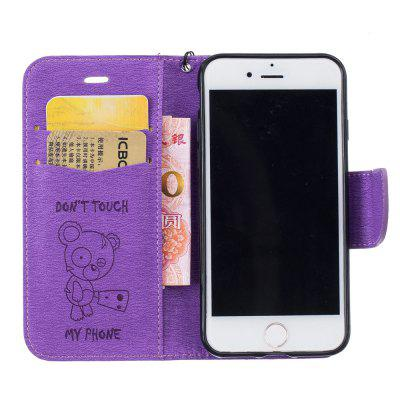 Little Bear Embossed Wallet Flip PU Leather Card Holder Standing Phone Case for iPhone 6 Plus / 6s Plus vintage leather multi function wallet card pocket zipper flip case cover for apple iphone 6 6s 4 7