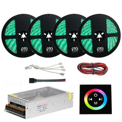 1Set YWXLight 20M 5050 RGB LED Light Strip DC12V RGB Touch Controller With 20A Power Supply