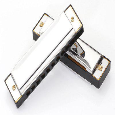 Harmonica Key of C 10 Tremolo Hole Diatonic polyphony Tone Blues Harmonica