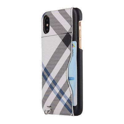 Grid Seven Pattern PU Leather All Encompassing Case for iPhone X