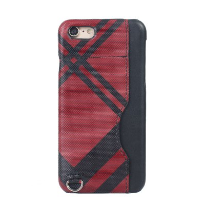 Grid Seven Pattern PU Leather All Encompassing Case for iPhone 7 / 8