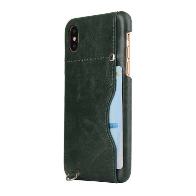 Crazy Horse Stripes PU Leather All Encompassing Case for iPhone X