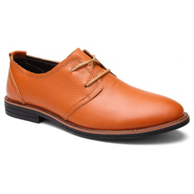 Men's Casual Pointed-toe Business Oxfords Lace Up Dress Shoes