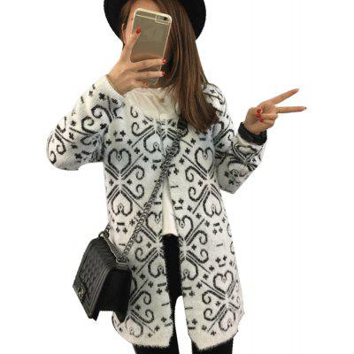 Autumn and Winter New Long Loose Big Sweater Coat