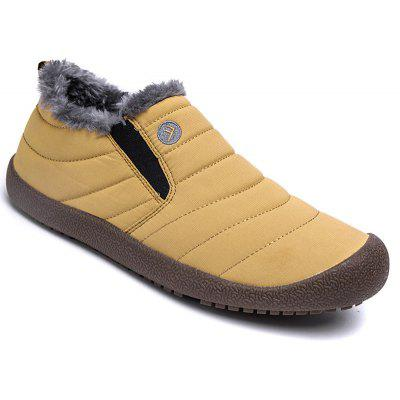 Men Warm Casual Sneakers Fur British Boots Outdoor Sport Shoes