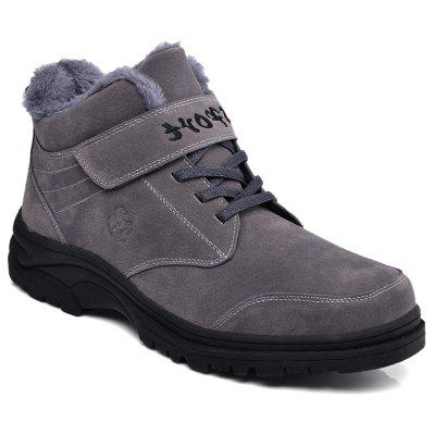 Men Warm Casual Sneakers High Top Fur British Boots Outdoor Sport Shoes
