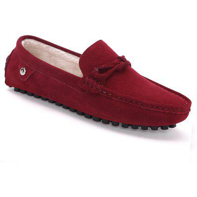 Men Warm Loafers Casual Slip on Sneakers Peas Male Drive Shoes