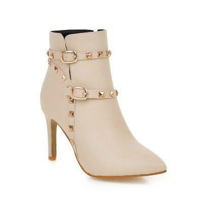 Pointed Thin Heel Sexy Boots with High Heel
