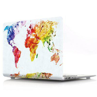 все цены на Computer Shell Laptop Case Keyboard Film for MacBook Pro 15.4 inch Touch 2016 3D Watercolor World Map онлайн