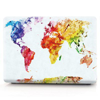 Computador Shell Laptop Case Keyboard Film para MacBook Retina 12 polegadas 3D Watercolor World Map
