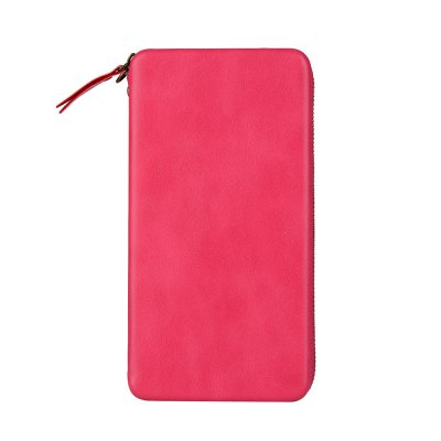 Case For iPhone 8 Plus / 7 Plus / 6 Plus Card Holder Wallet Full Body Solid Color Hard Genuine Leather