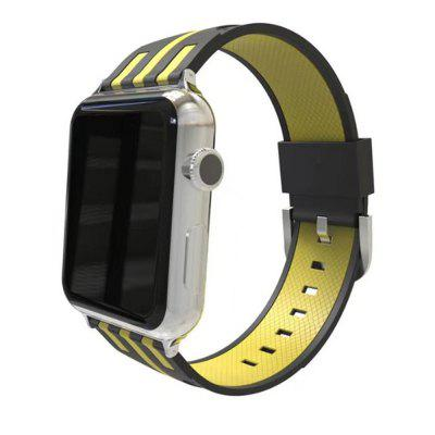 Durable Soft Silicone Replacement 42mm Band Sport Style Wrist Strap for iWatch Series 3 / 2 / 1