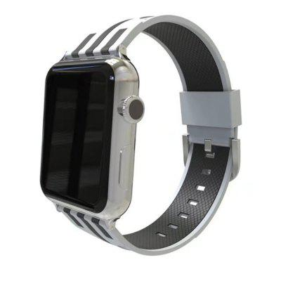 Durable Soft Silicone Replacement 38mm Band Sport Style Wrist Strap for iWatch Series 3 / 2 / 1
