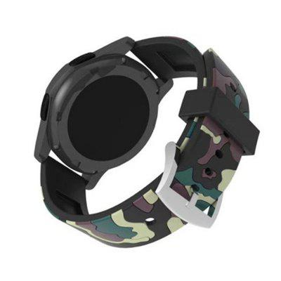 Camouflage Sport Loop 22mm with Soft Silicone Rubber Watch Strap for Samsung Gear S3 Frontier / Classic