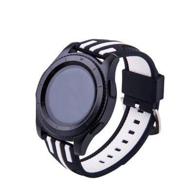 22mm Double Color Striped Silicone Strap for Samsung Gear S3 Frontier / Classic