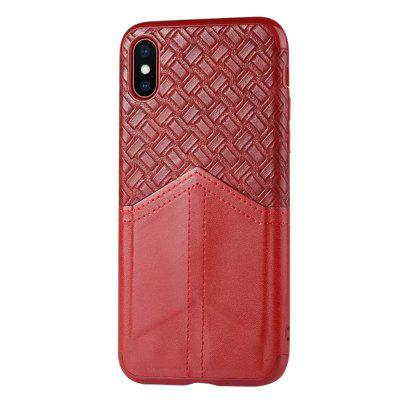 Ultra Slim Credit Card Slots Shockproof Protective Skin Cover Case for iPhone X