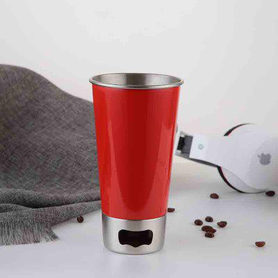 Buy RED Stainless Steel Beer Mug with Bottle Opener for $11.52 in GearBest store