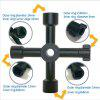 Buy Universal Cross KEY Triangle Train Electrical Elevator Cabinet Valve Alloy Triangle/Square BLACK