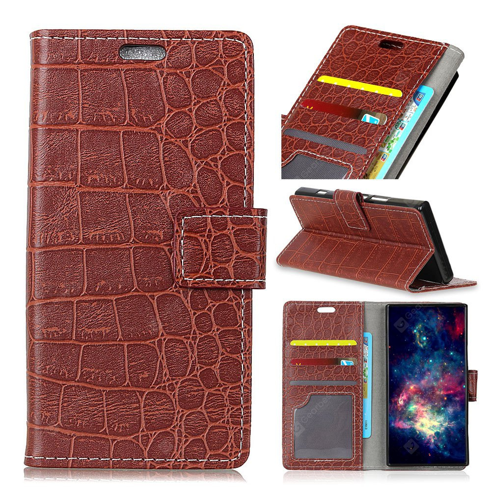 Vintage Crocodile Pattern PU Leather Wallet Case for Doogee Mix