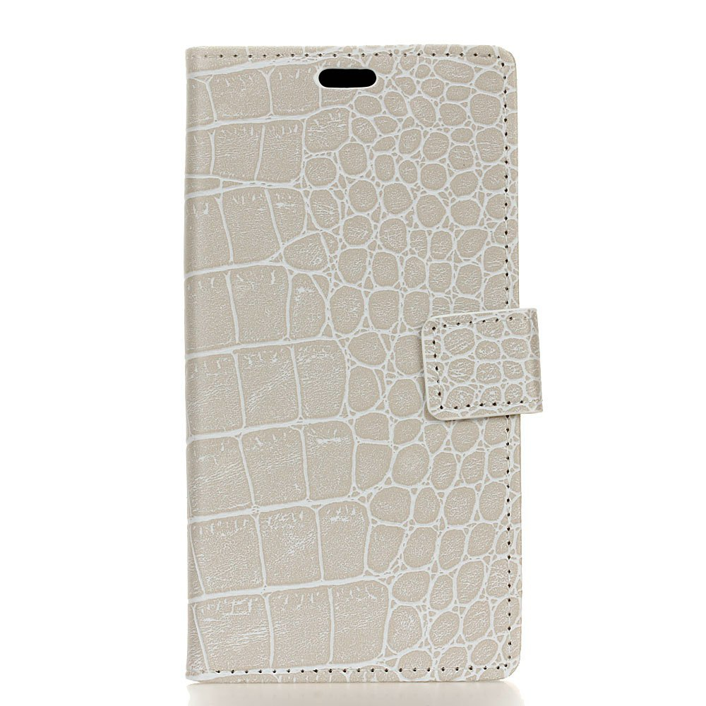 Vintage Crocodile Padrão PU Leather Wallet Case para Huawei Y6 2017