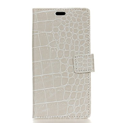Vintage Crocodile Padrão PU Leather Wallet Case para Huawei Y7 Prime