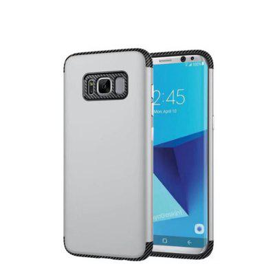Luxury Shockproof Back Cover Carbon Fiber TPU + PC Protective for Samsung Galaxy S8