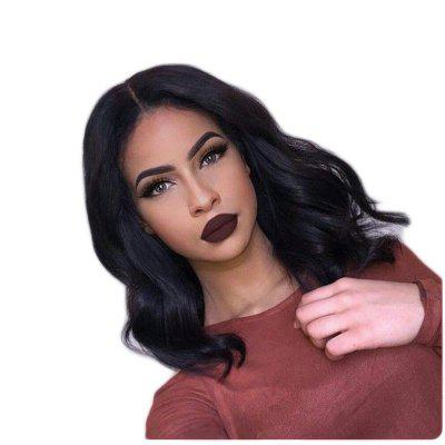 Short Middle Body Wave Lace Front Wig Synthetic Hair
