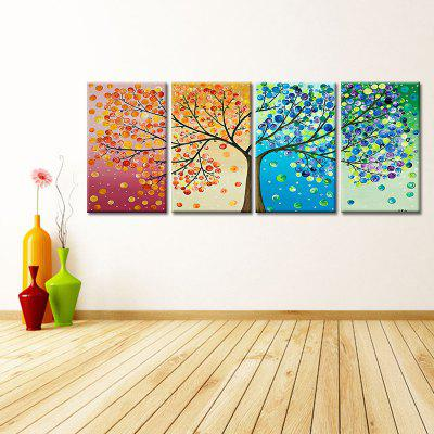 Modern Abstract Frameless Canvas Art Print for Home Decoration 4pcs
