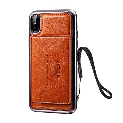 Electroplating TPU Crazy Horse Pattern Case for iPhone X