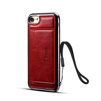Electroplating TPU Crazy Horse Pattern Case for iPhone 7 / 8
