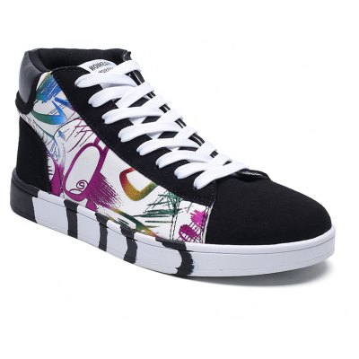 High Color Floral Canvas Shoes