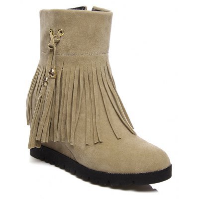 Women's Shoes Winter Round Toe Mid-Calf Snow Boots