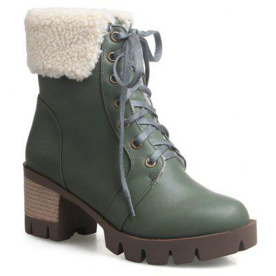 The Round Head Waterproof Platform with Coarse and Casual Martin Boots