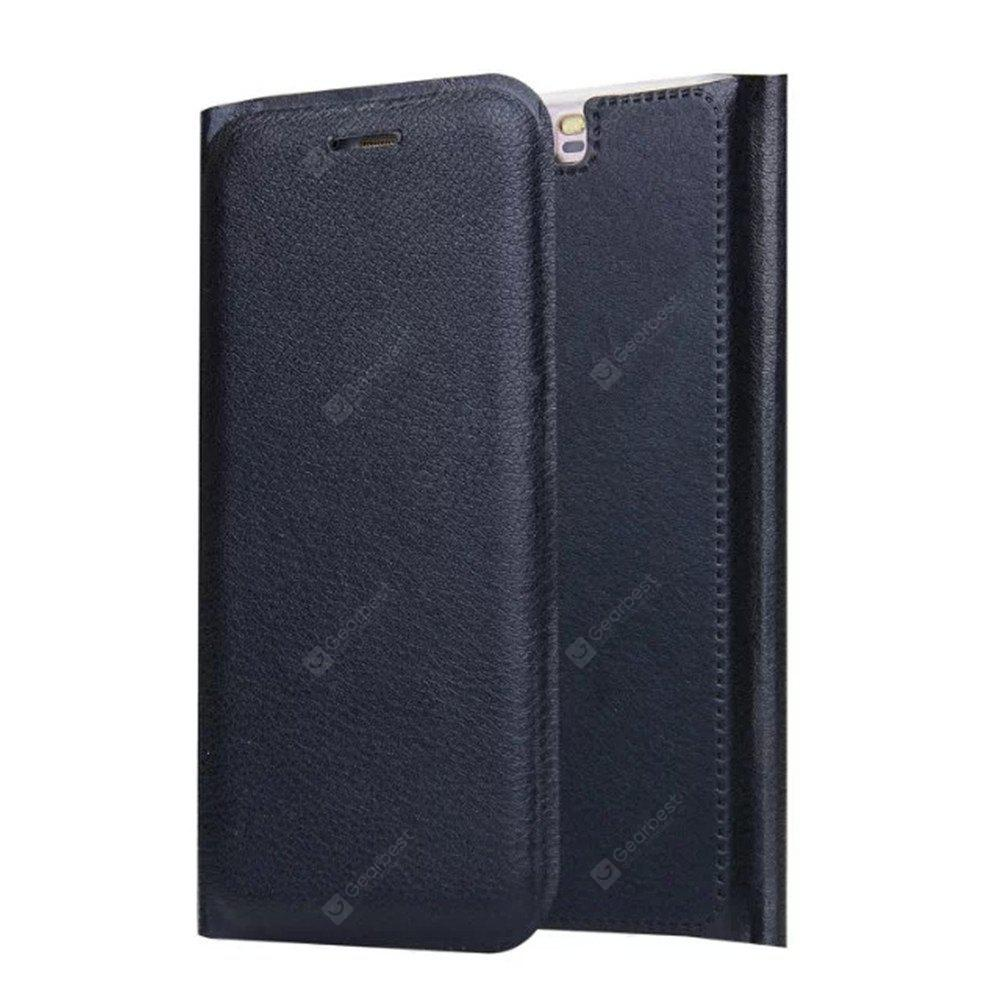 Titular do cartão Flip Full Body Solid Color Hard PU Leather Case for Huawei P10