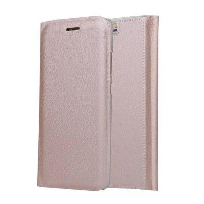 Titular do cartão Flip Full Body Solid Color Hard PU Leather Case for Huawei P10 Plus