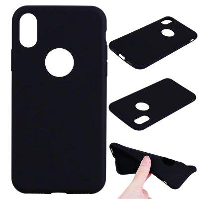 Ultra-fino tampa traseira Solid Color Soft TPU Case para iPhone X