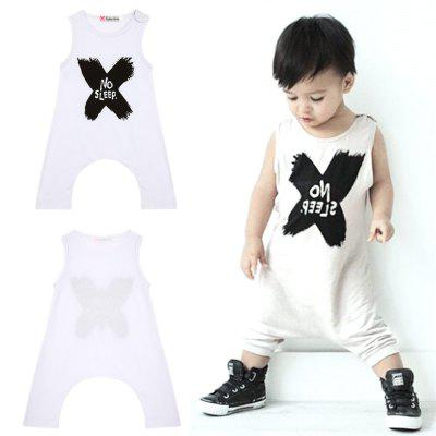 Summer Baby Boy Girl Clothes Set Baby Romper Letters Baby Clothing