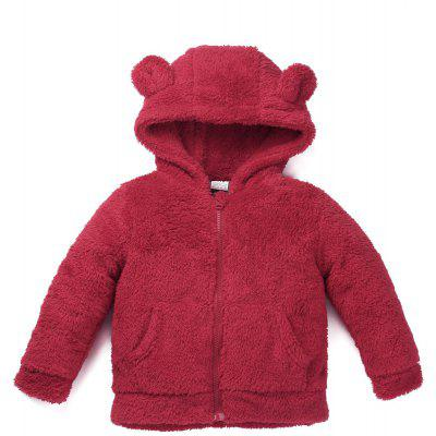 Winter Baby Boy Girl Fleece Warm Coat kids Long Sleeve Hooded Zipper Jacket