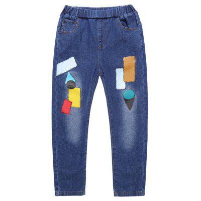 Boys Pants Jeans Children's Denim Trousers Kids Dark Blue Pants