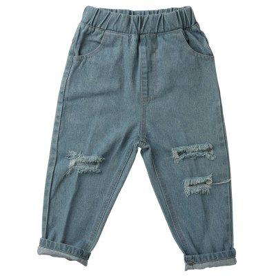 New Baby Boy Spring Autumn Children Broken Hole Pants Trousers  Jeans  Autumn Kids Clothing