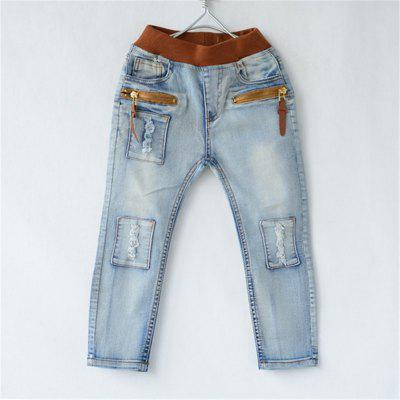 New Spring Autumn ChilDrens Cowboy Pants and Winter Baby Boys Thick Jeans Kids Trousers