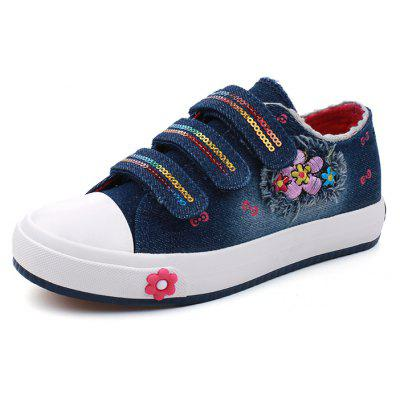 Buy DEEP BLUE 33 New Girl Canvas Magic Shoes Casual Cowboy Shoes for $22.92 in GearBest store