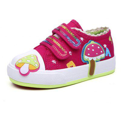 New Version of Korean Cartoon Cartoon Cute Lazy Feet Feet Canvas Shoes for Children