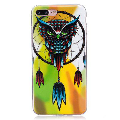TPU Material Owl chimes Pattern High Penetration Luminous Phone Case for iPhone 7plus /8plus